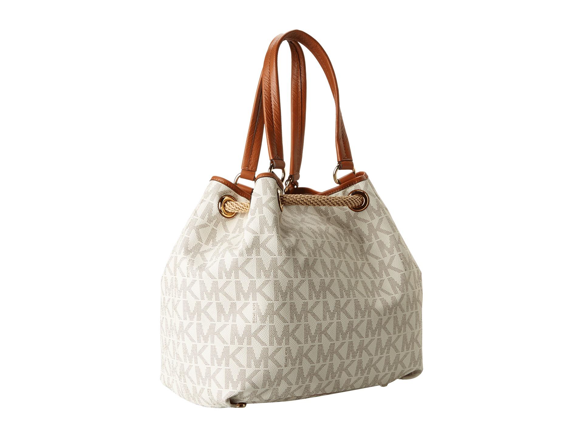 09384e789de5 Previously sold at Zappos · Womens Michael Kors Marina Michael Kors Marina  Large Grab Bag Handbag Tote Navy White ...