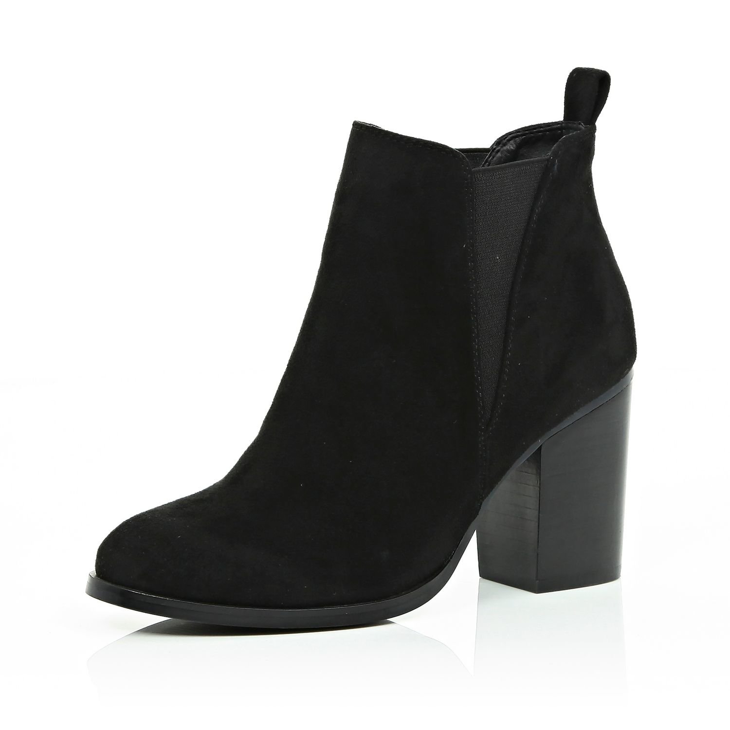 a9615a74cb7f4 River Island Black Heeled Chelsea Boots in Black - Lyst
