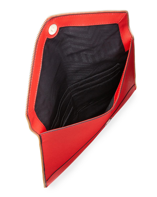 Red nylon saffiano trim