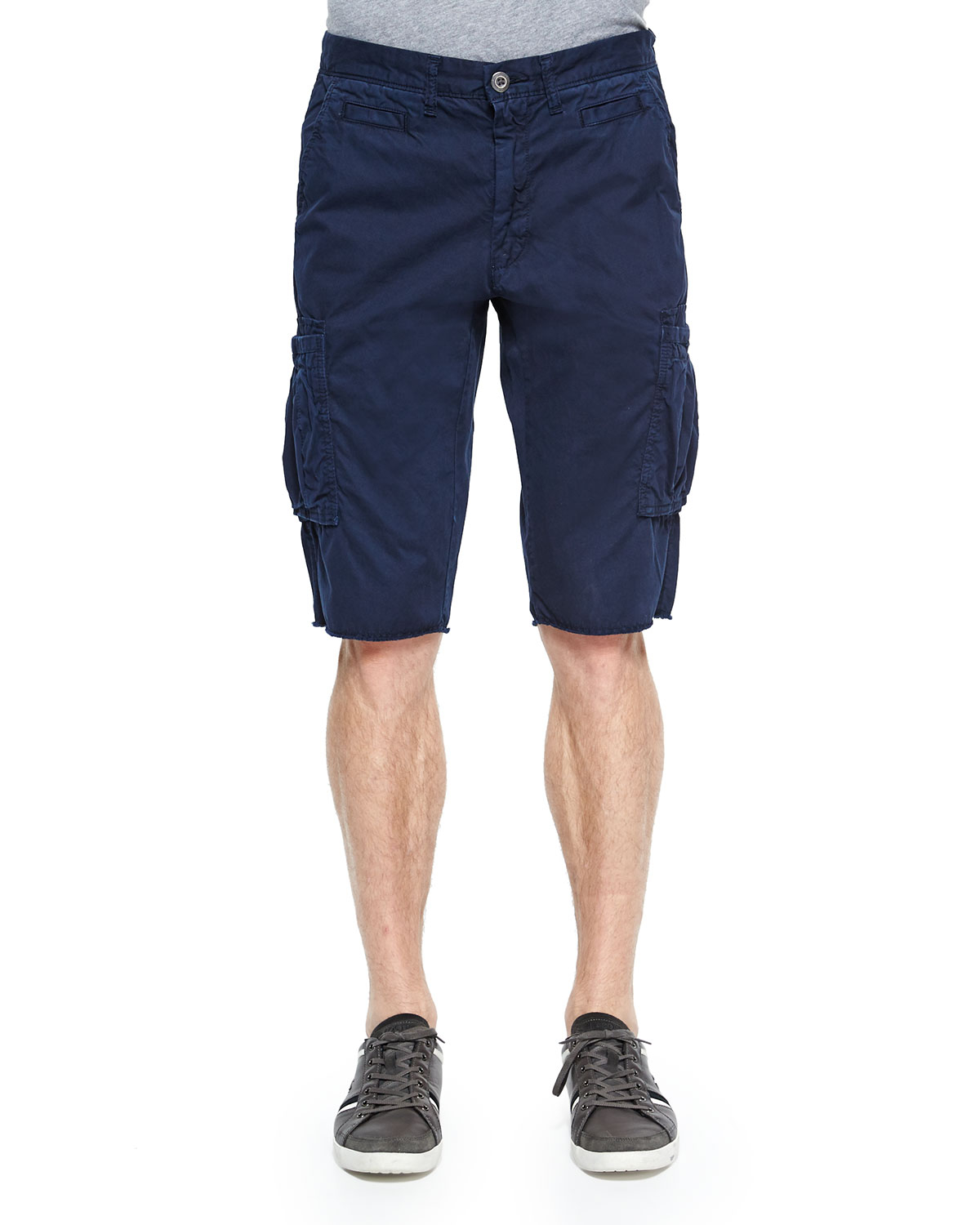 Original paperbacks Bedford Cord Slim-fit Cargo Shorts in Blue for ...