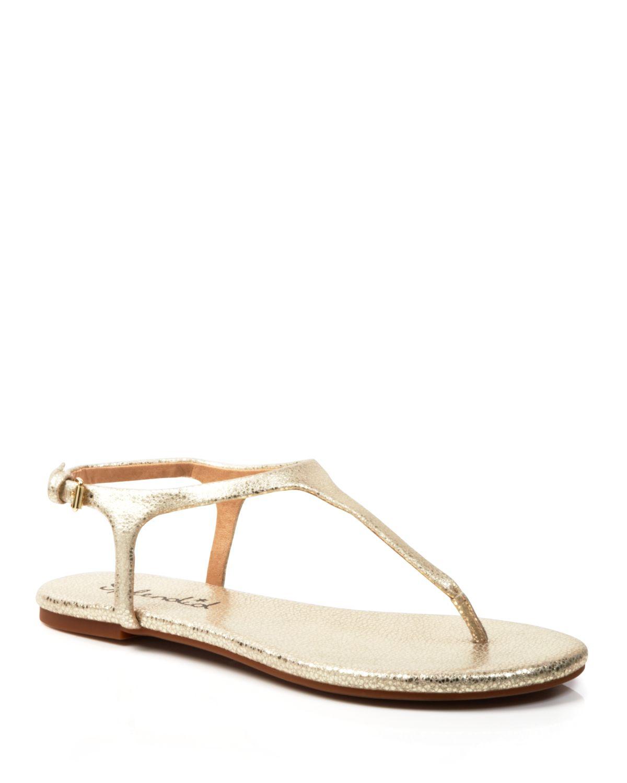 Lyst Splendid Flat Thong Sandals Mason In Metallic