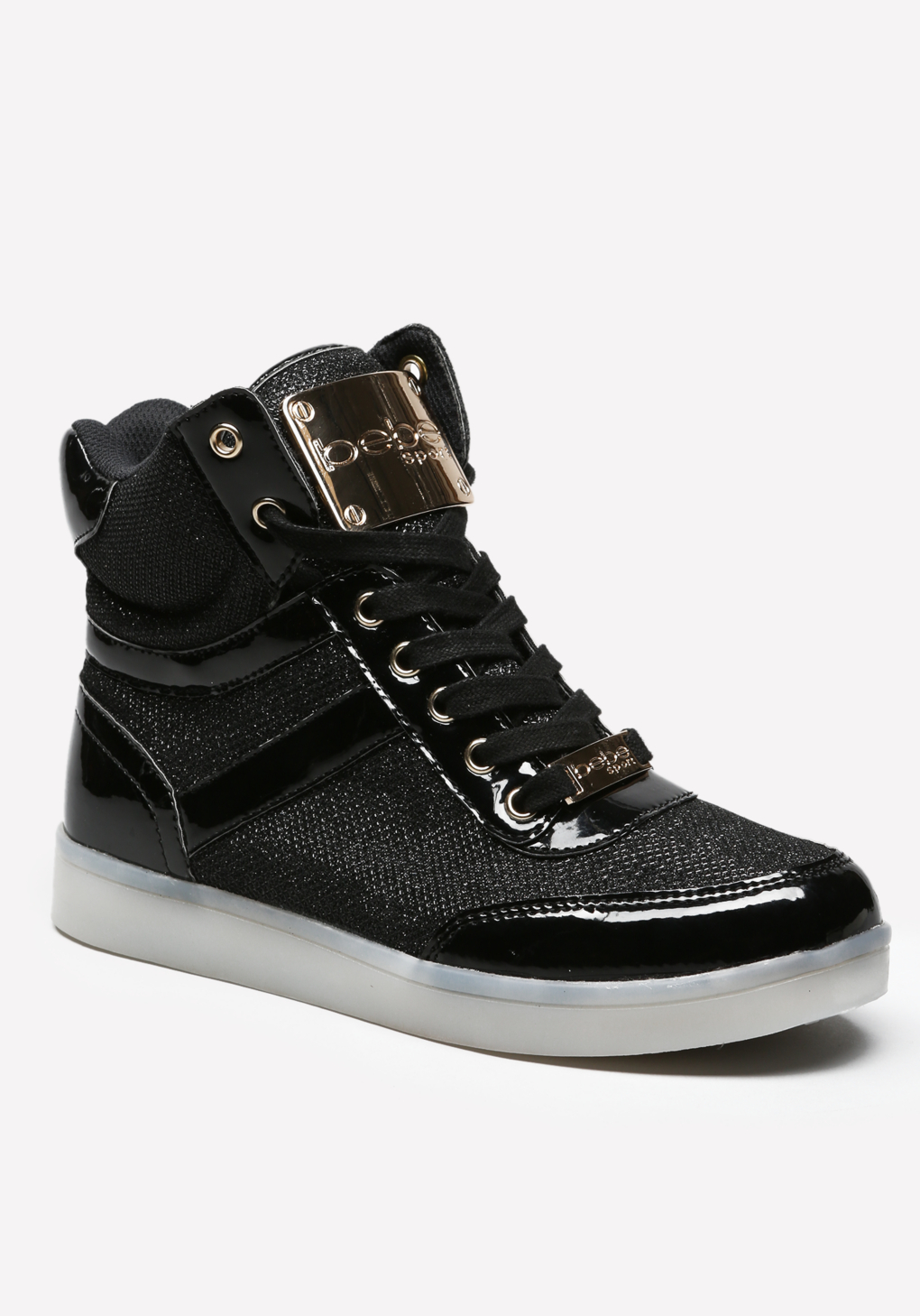 Bebe Krysten High Top Sneakers In Black