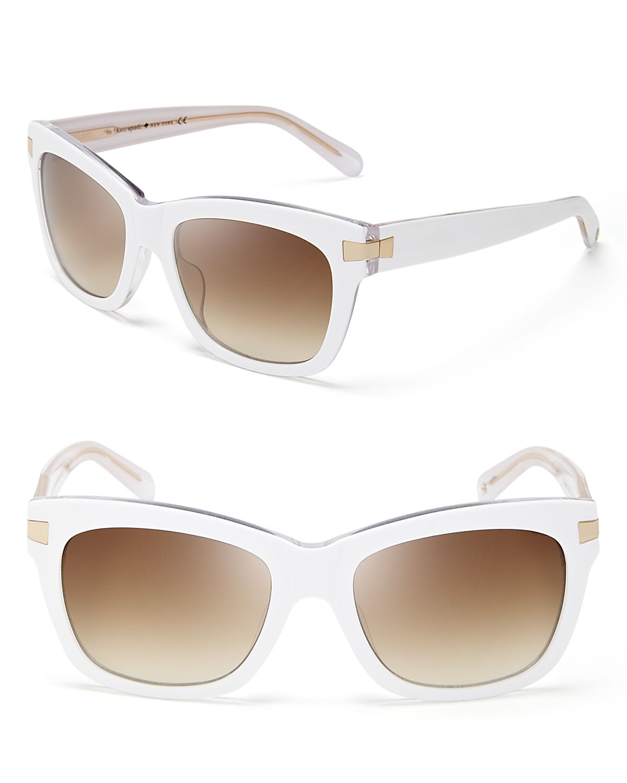 Kate Spade Autumn Wayfarer Sunglasses in White (White ...