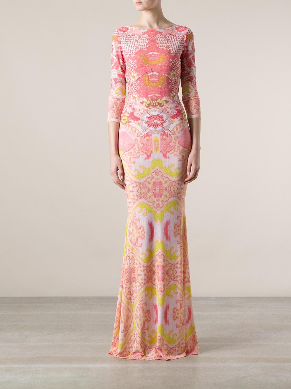 Printed dress Roberto Cavalli OgiOnygXp0