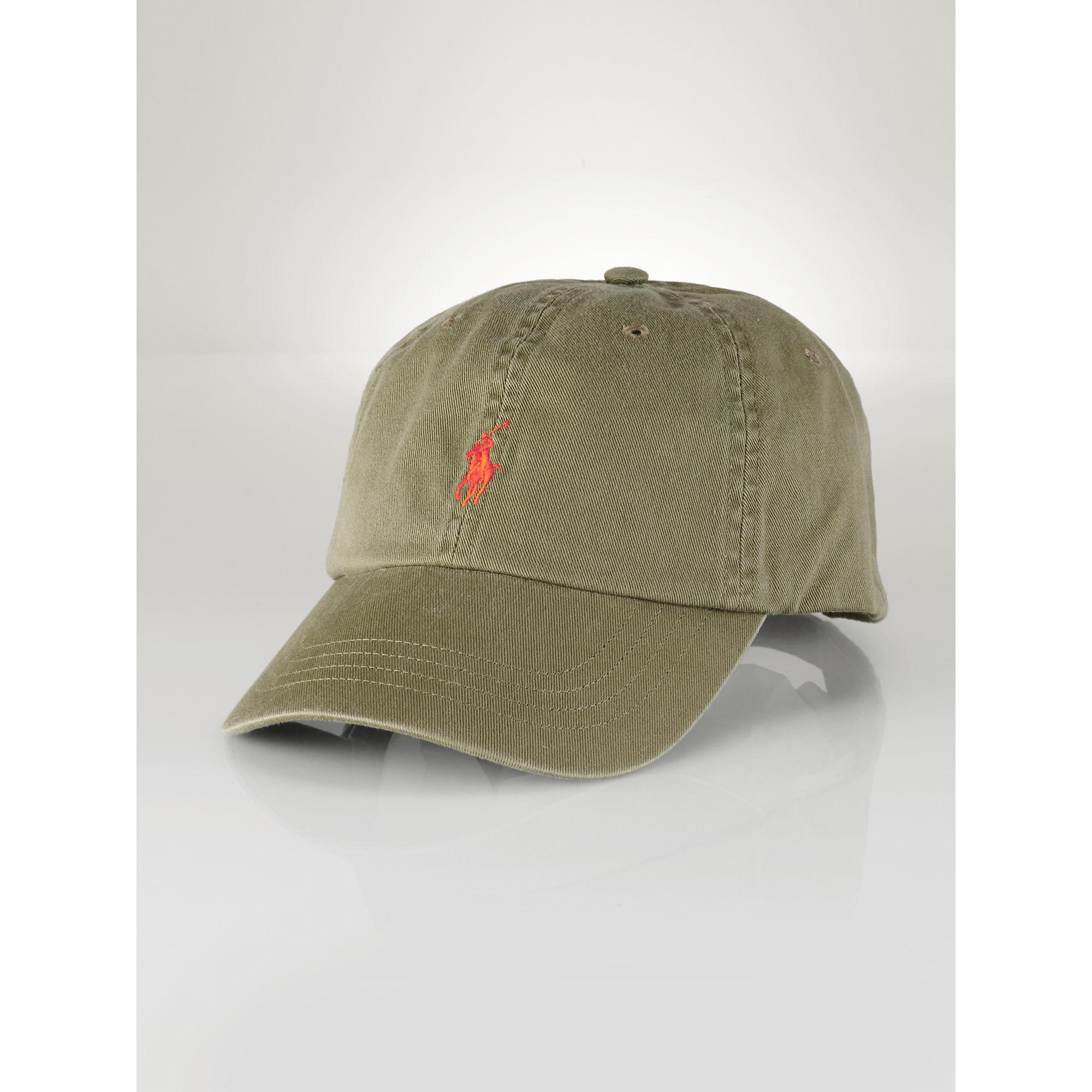 Lyst - Polo Ralph Lauren Chino Baseball Hat in Green for Men 9de0870d6dd