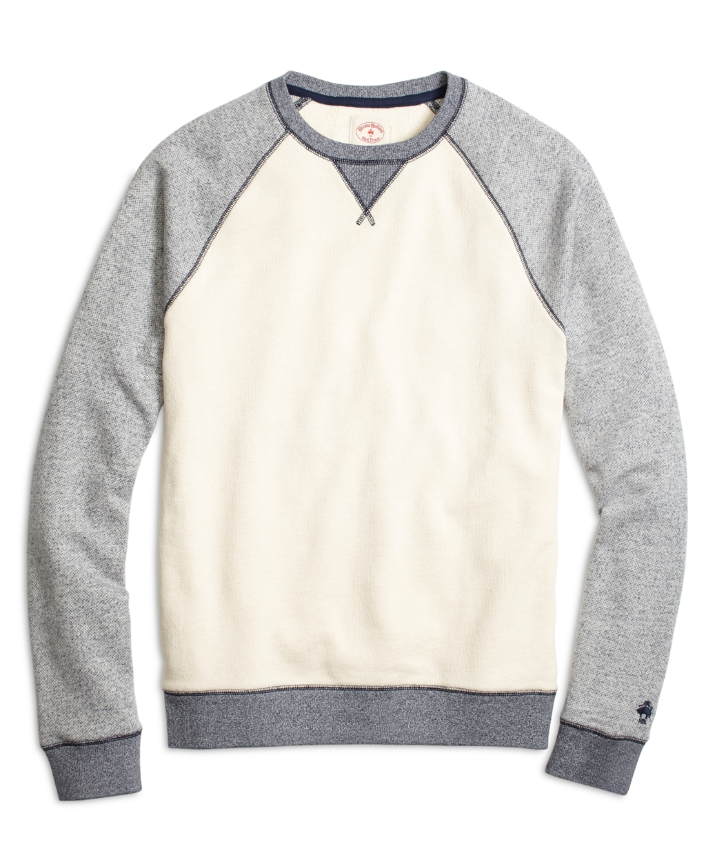 Brooks brothers Color-block Raglan Crewneck Sweatshirt in Gray for ...