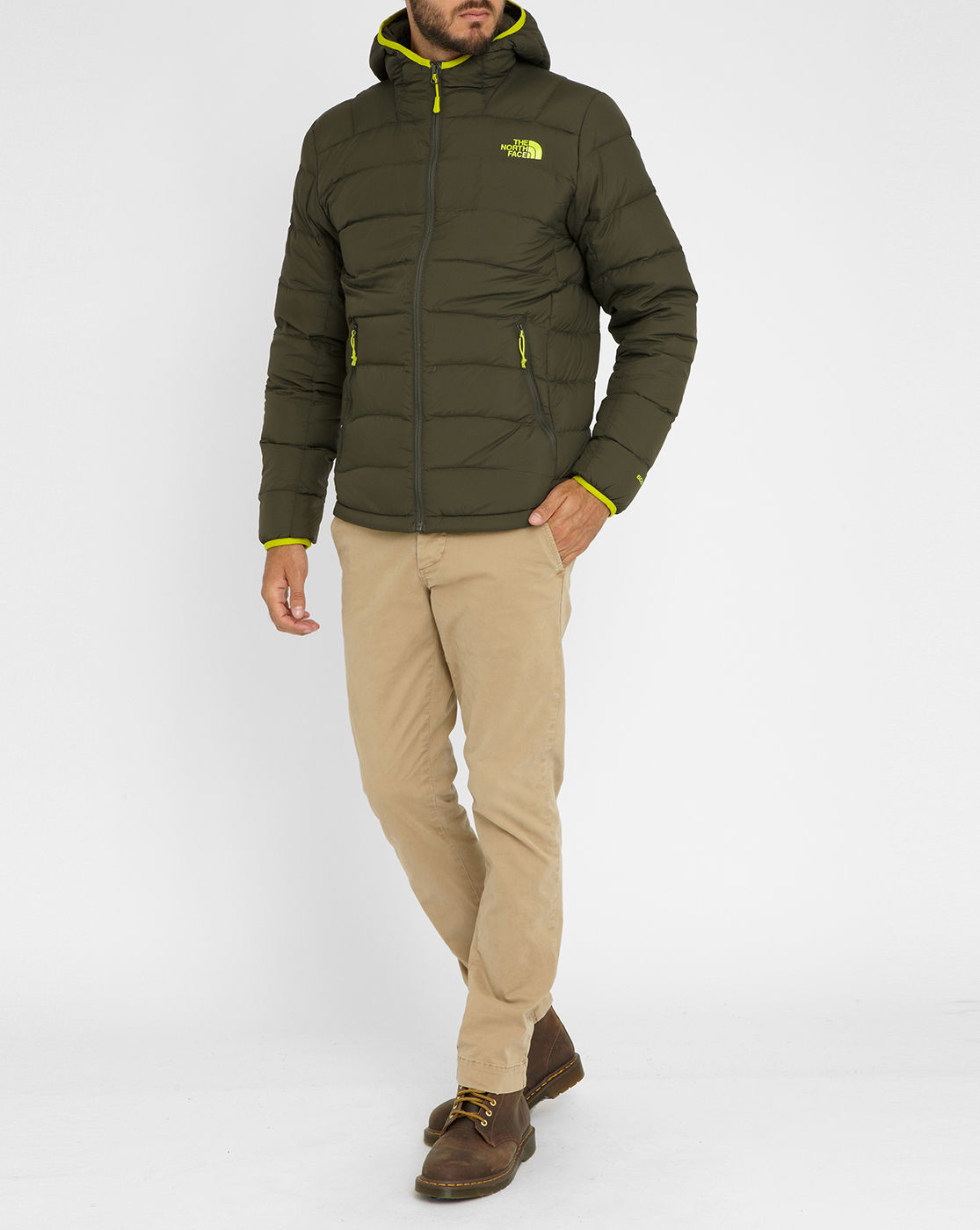 the north face la paz quilted jacket in natural for men lyst. Black Bedroom Furniture Sets. Home Design Ideas
