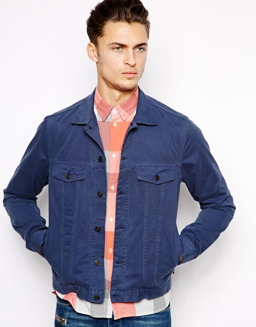 Navy Blue Denim Jacket - JacketIn
