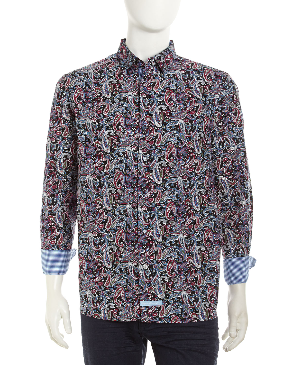English Laundry Paisleyprint Longsleeve Button Down Sport