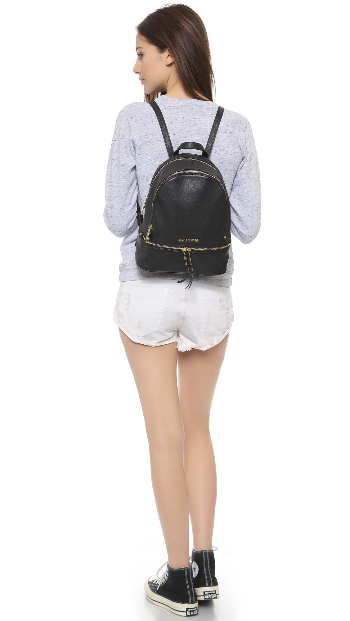 c82d010f73c4 Lyst - MICHAEL Michael Kors Rhea Backpack - Black in Black