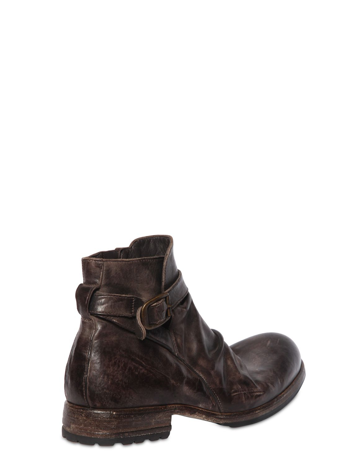 SHOTOVINTAGE EFFECT WASHED LEATHER BOOTS sW2QCuKsI