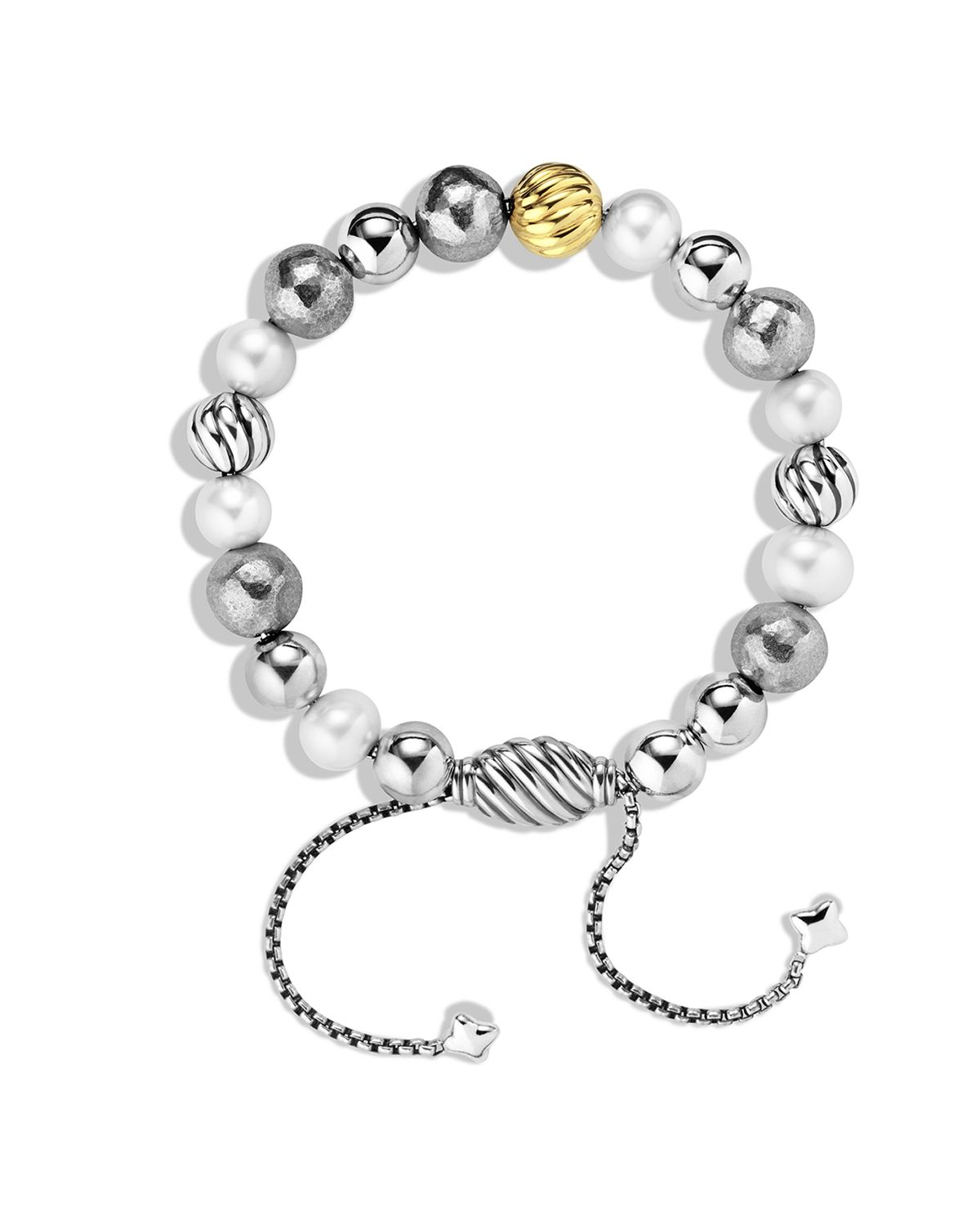 david yurman dy elements bracelet with pearls and gold in metallic