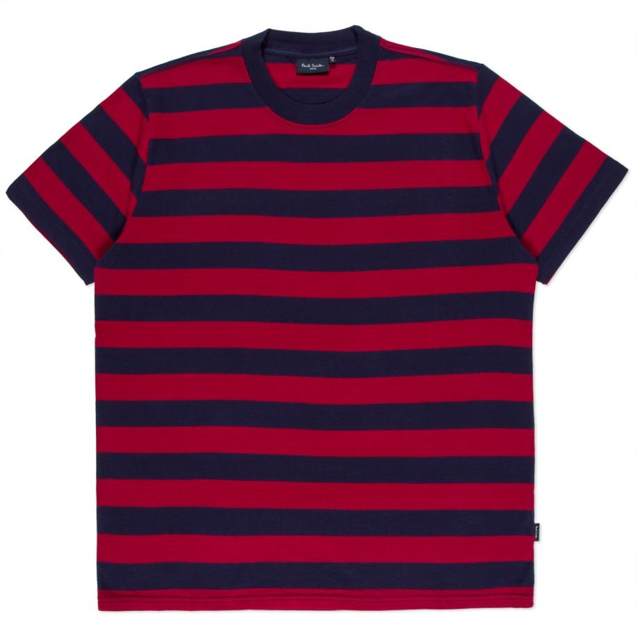 Paul Smith Men 39 S Oversized Navy And Red Block Stripe