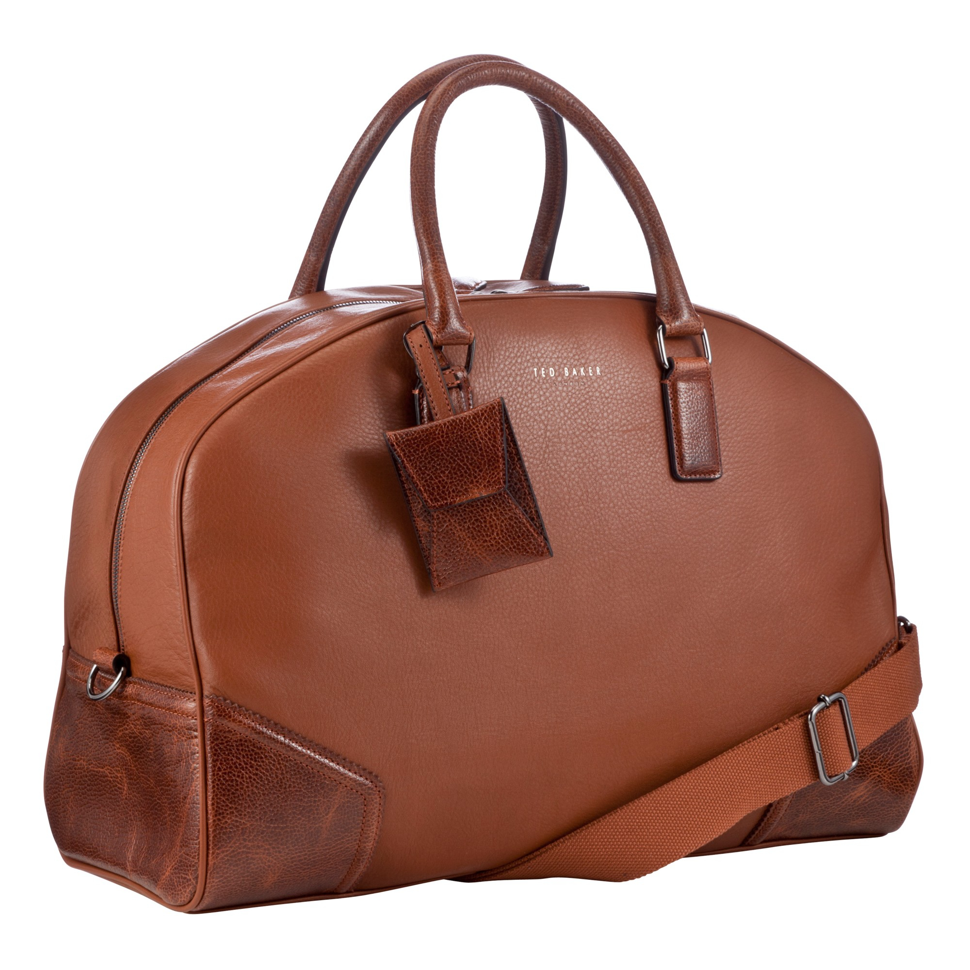 3a35ae1e236 Ted Baker Promsey Leather Holdall Bag in Brown - Lyst