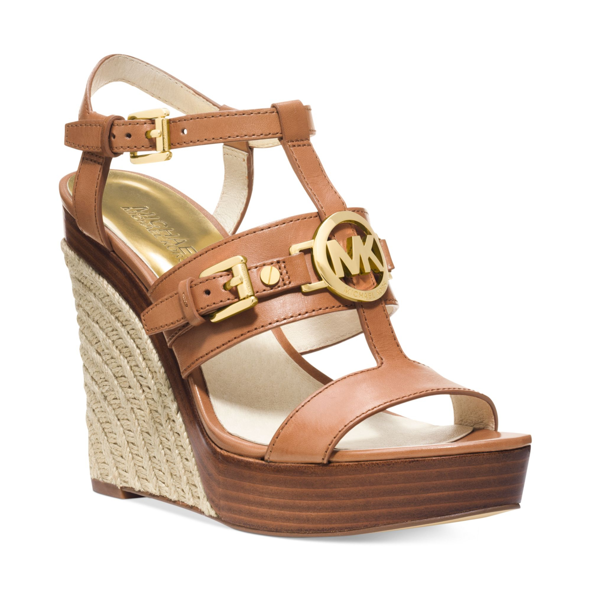 michael kors michael mackenzie platform wedge sandals in