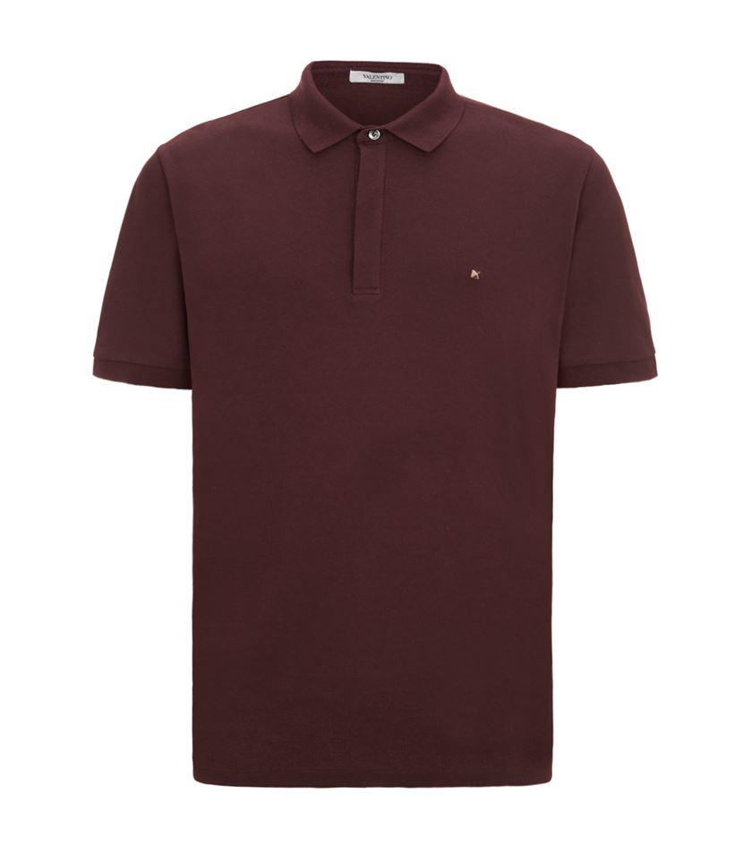 758218fa Valentino Single Stud Polo Shirt in Purple for Men - Lyst
