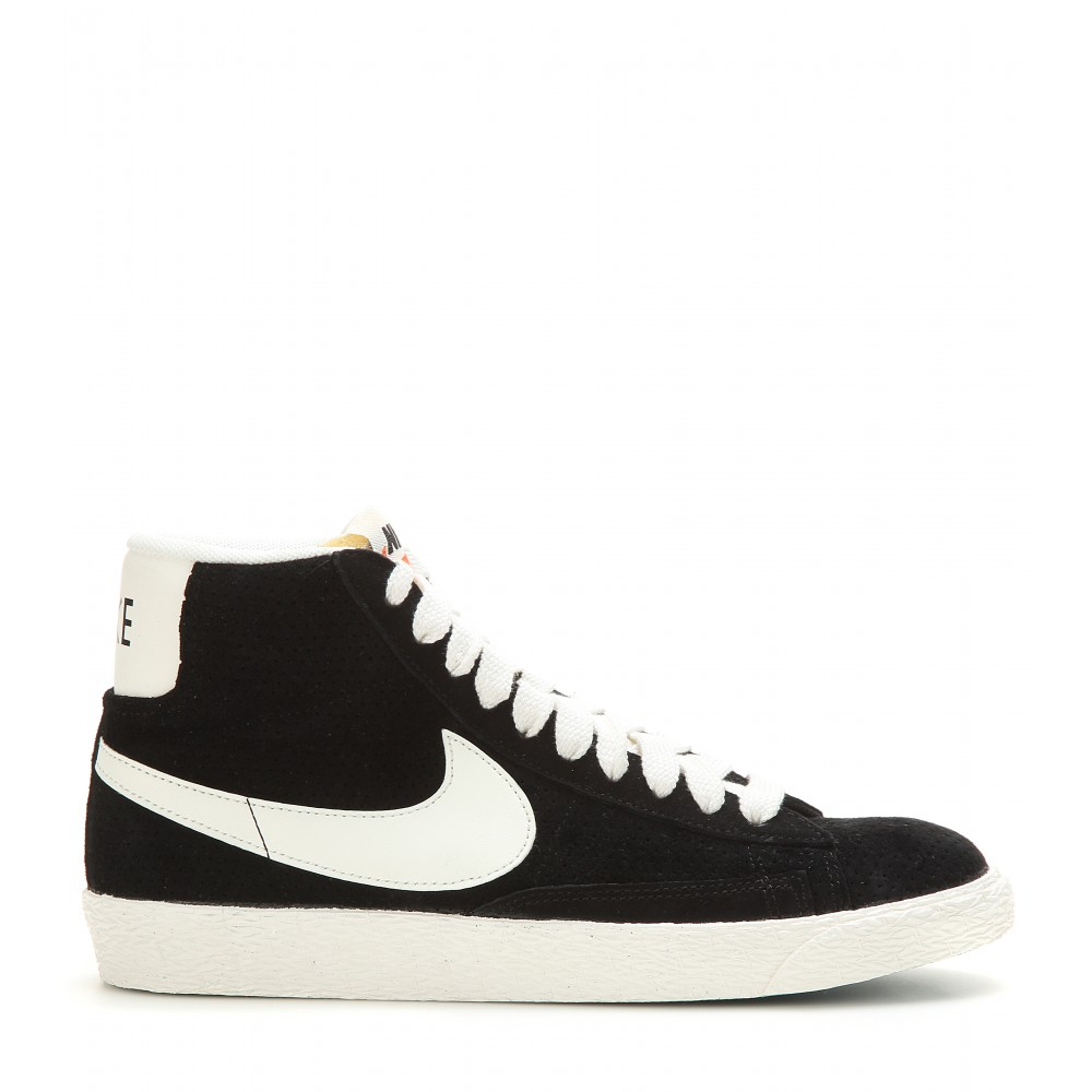 Lyst - Nike Blazer Mid Vintage Suede High-top Sneakers in Black d2fb4ec42