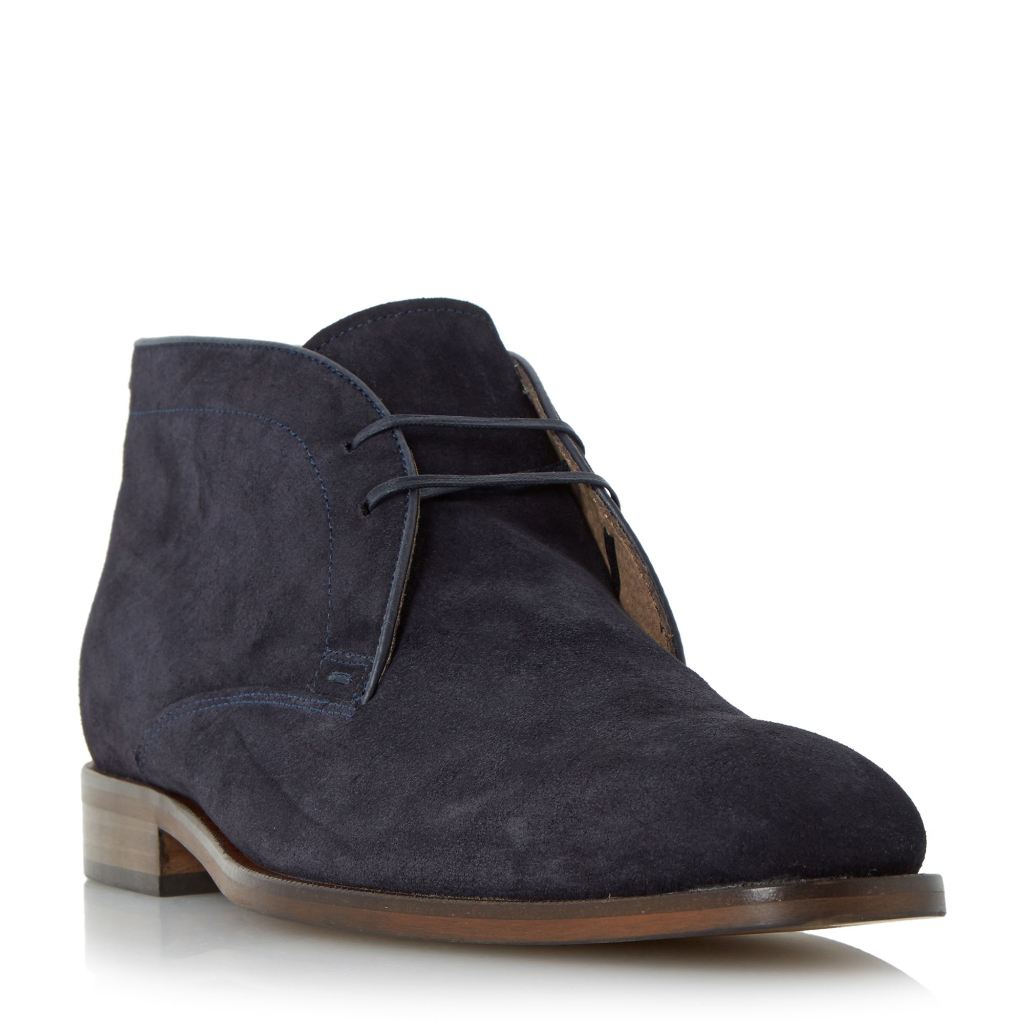 roland cartier carrick suede lace up chukka boot in blue