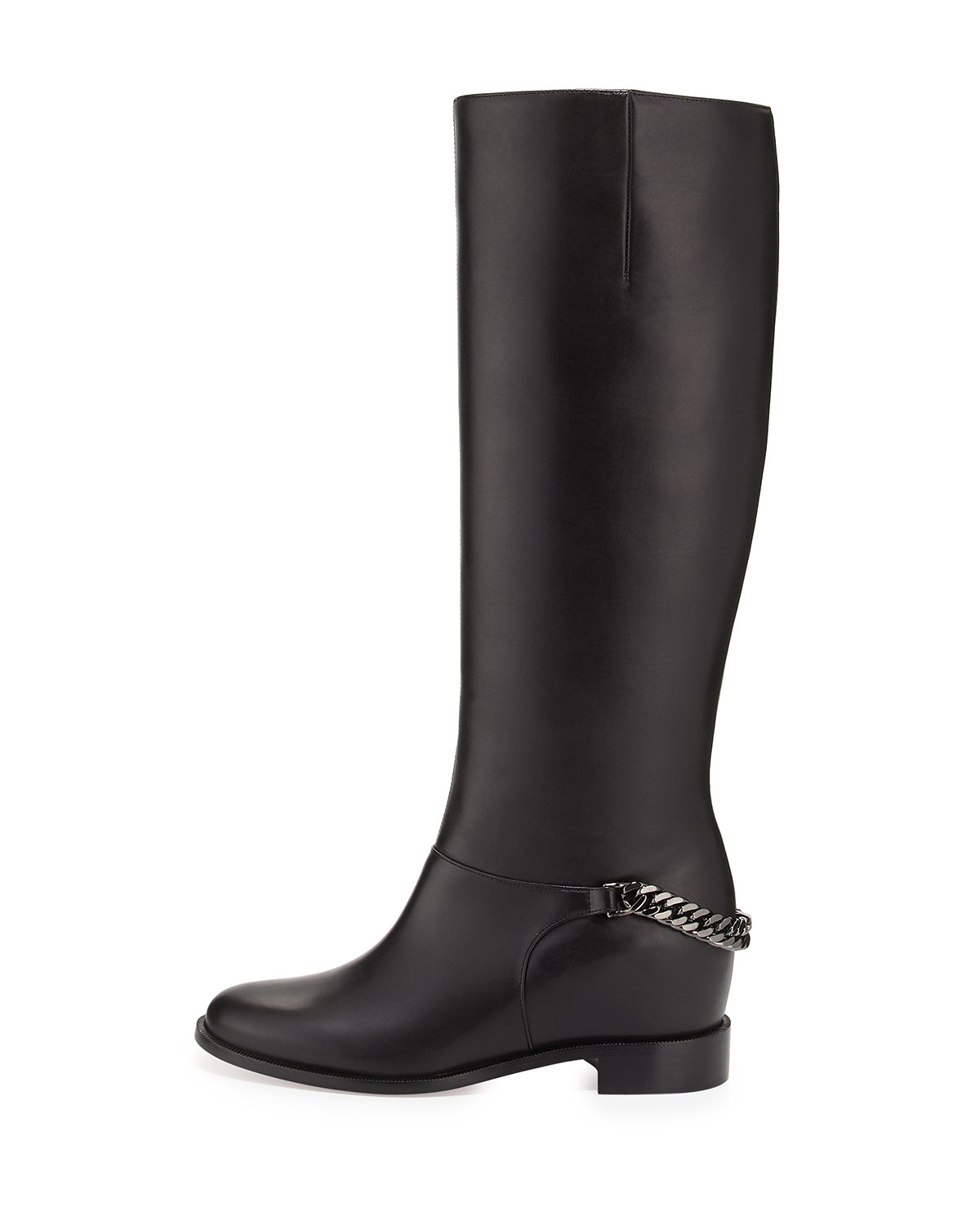 Christian louboutin Cate Hidden-Wedge Knee-High Boots in Black ...