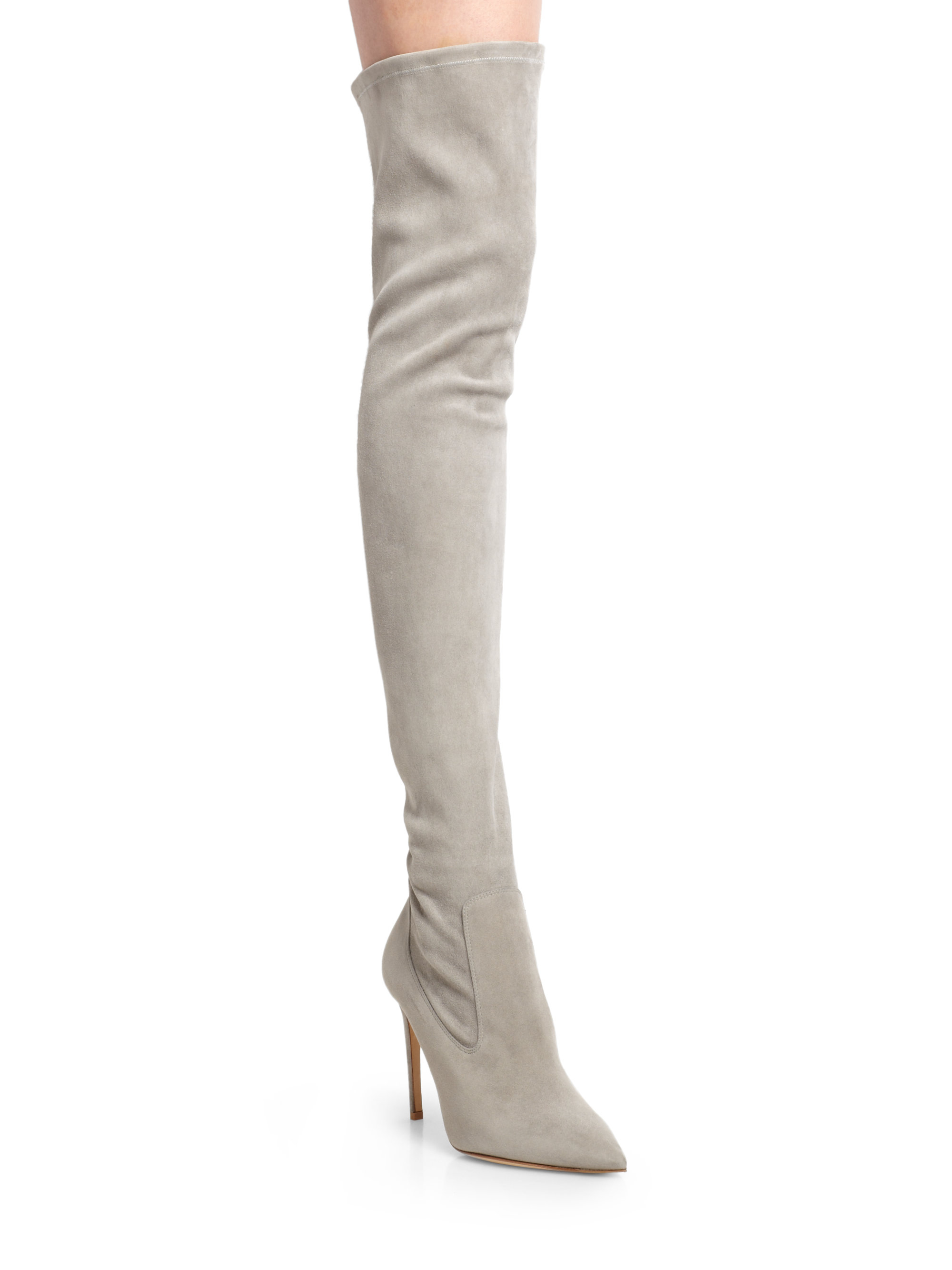 Stretch Suede Over The Knee Boots Boot Hto
