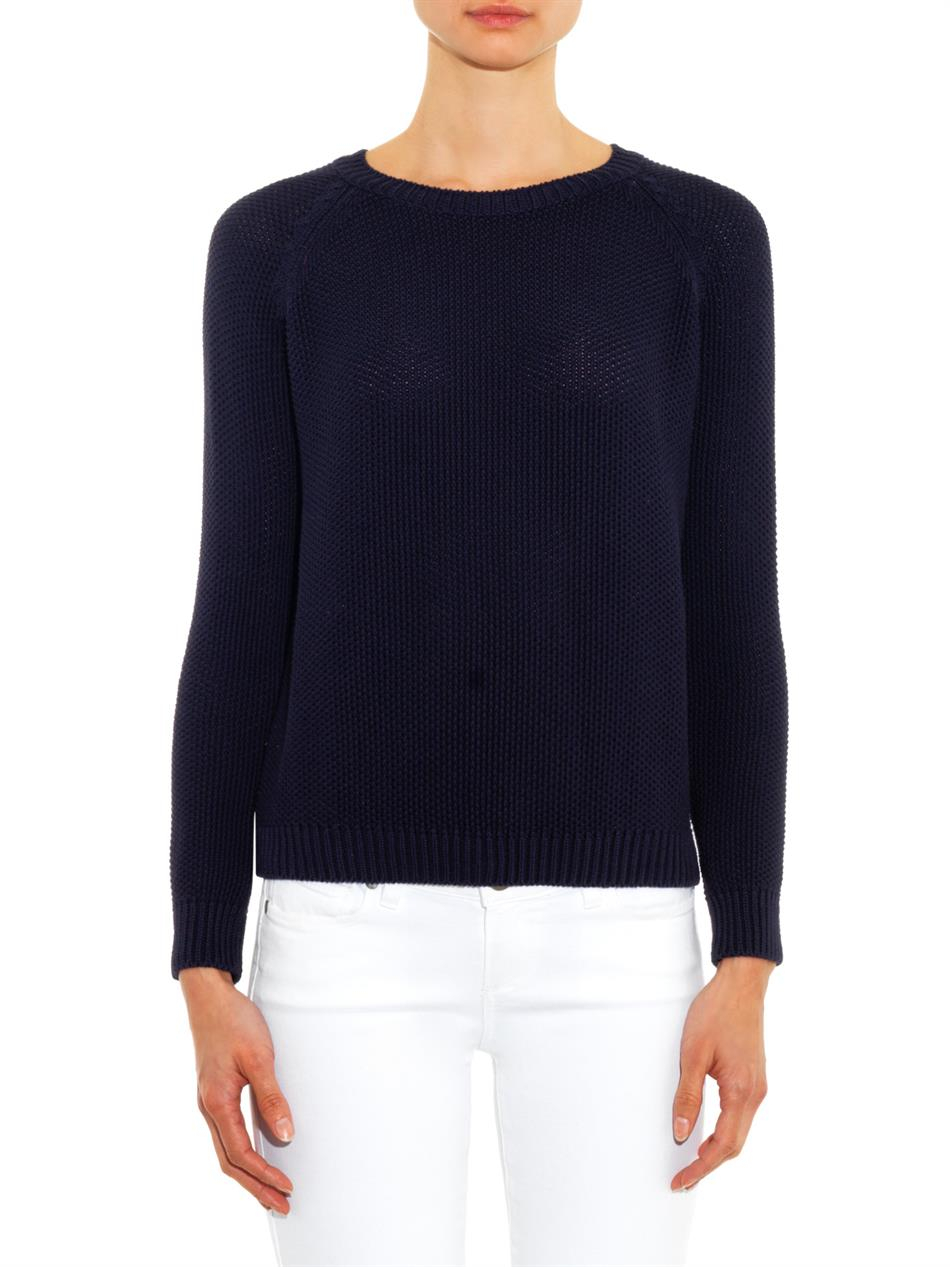 weekend by maxmara apuania sweater in blue lyst. Black Bedroom Furniture Sets. Home Design Ideas