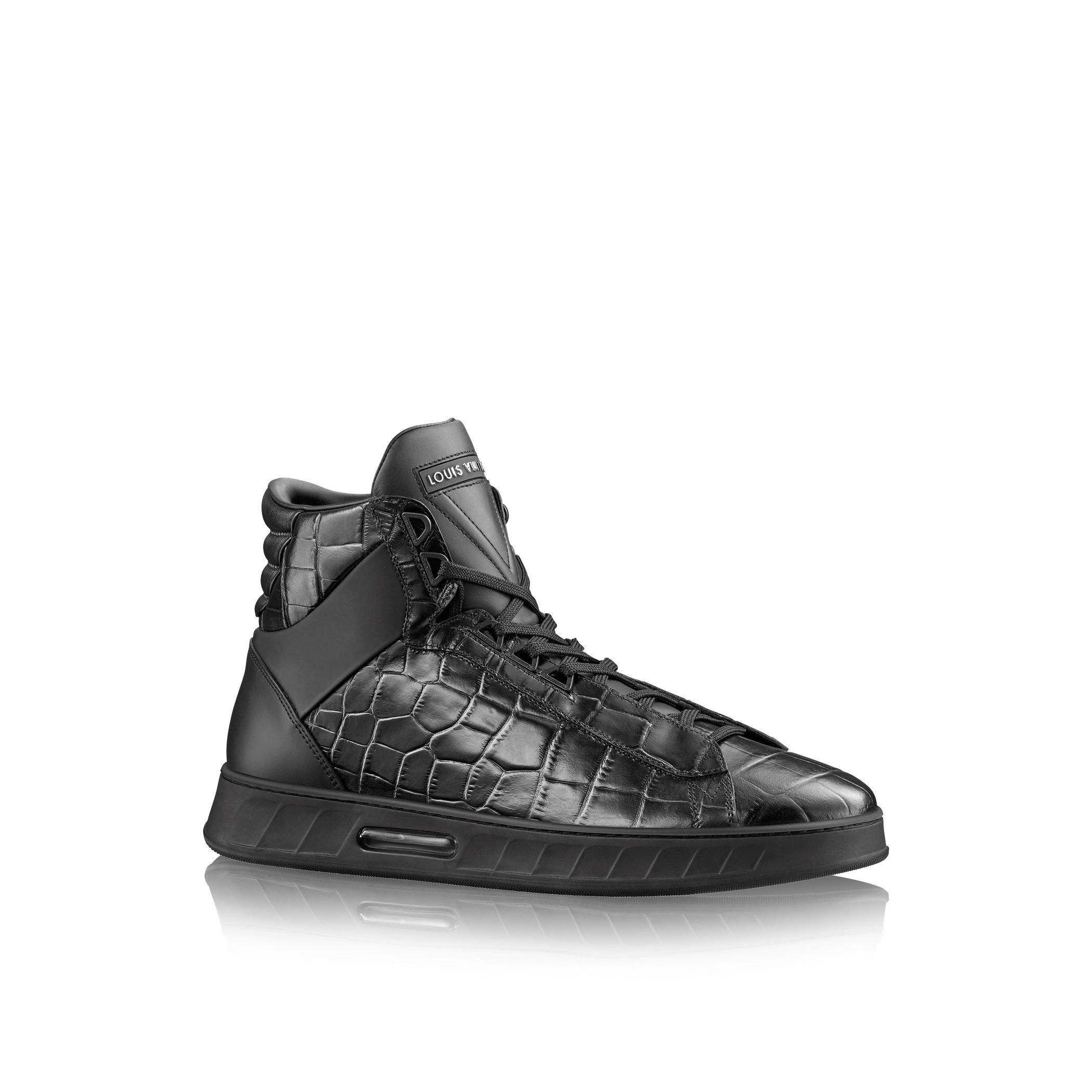 Louis vuitton Streetlight Sneaker Boot in Black for Men | Lyst