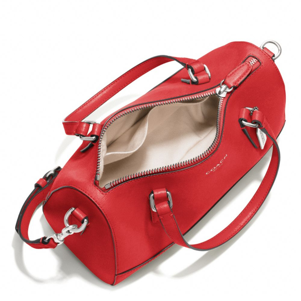 6ade7671c ... real lyst coach saffiano leather mini satchel in red b5144 7d771