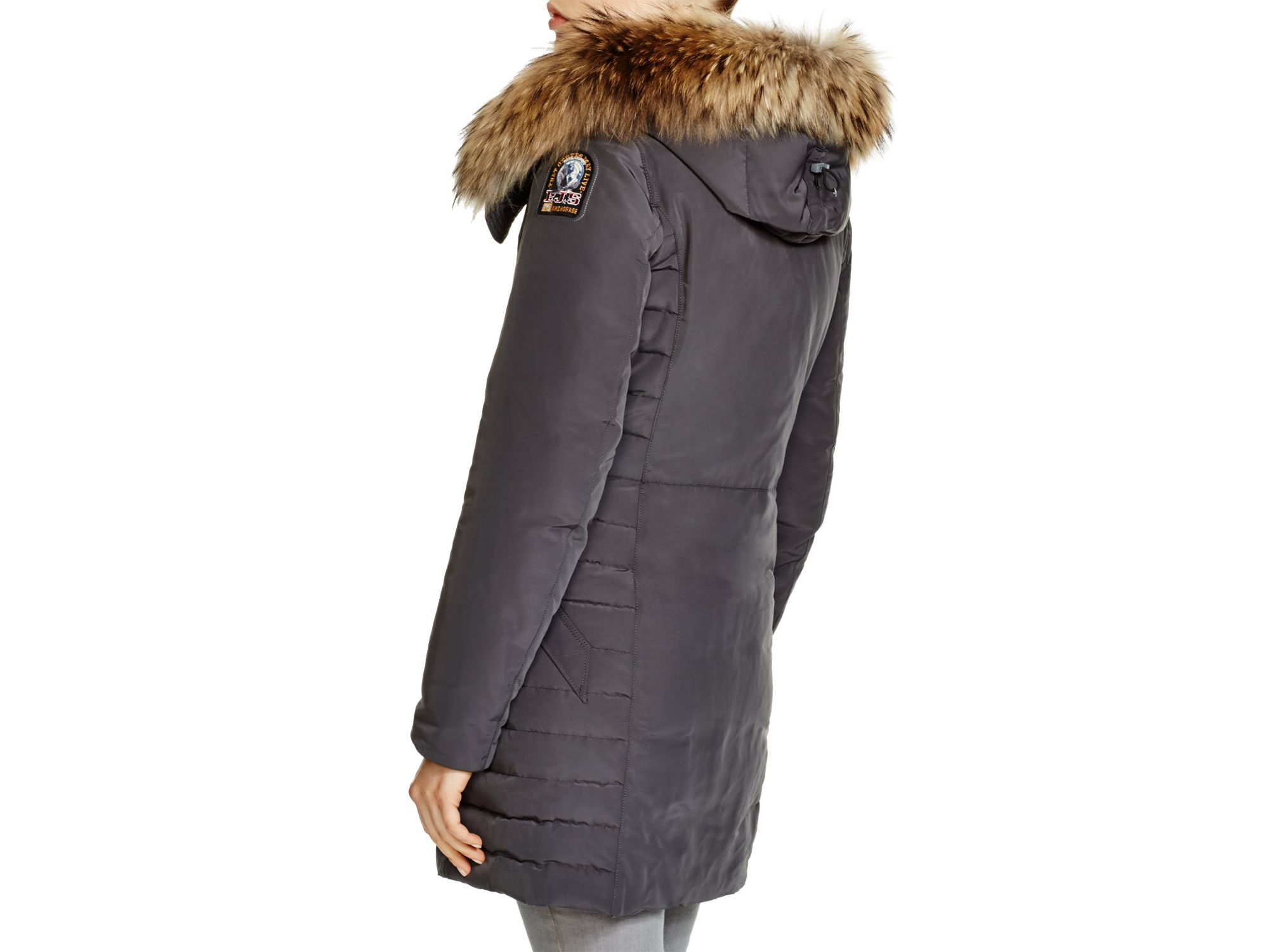 ... lyst parajumpers angie down coat in gray