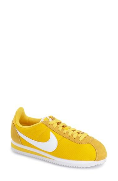 0d03aa30a9a6 Lyst - Nike  classic Cortez  Sneaker in Yellow