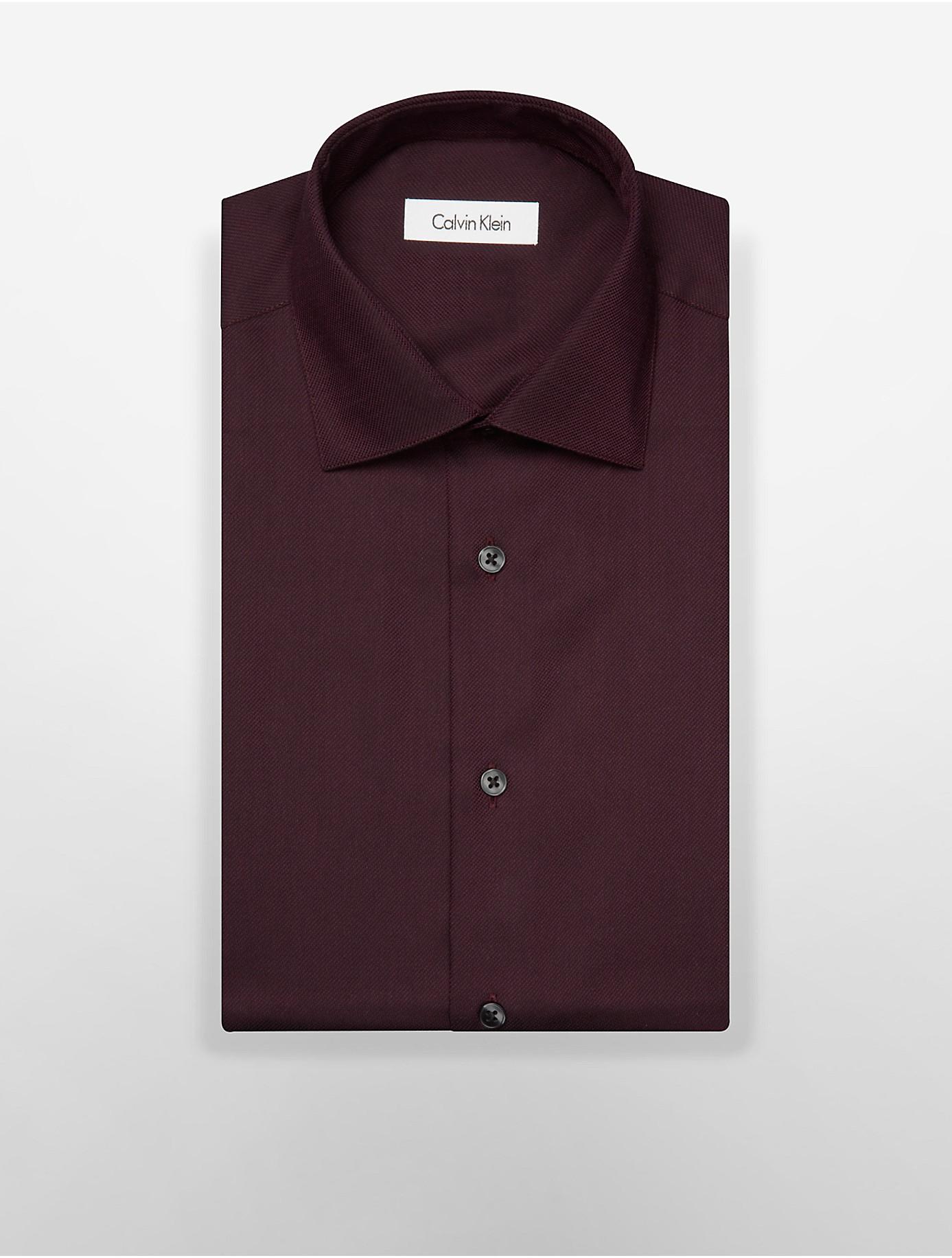 Calvin klein regular fit non iron oxford dress shirt in for Regular fit dress shirt