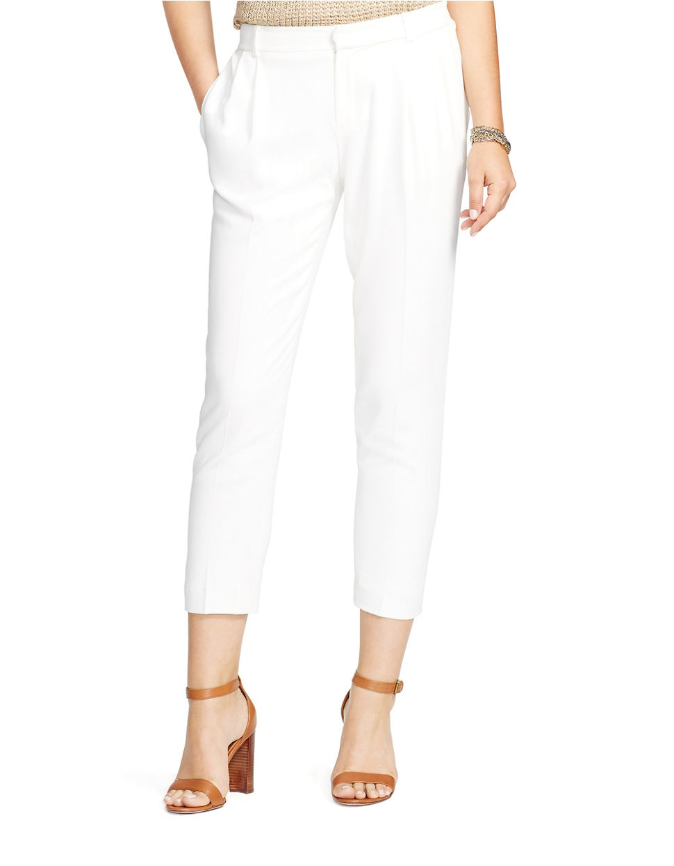 New Ralph Lauren Wideleg Pant In White Pearl  Lyst