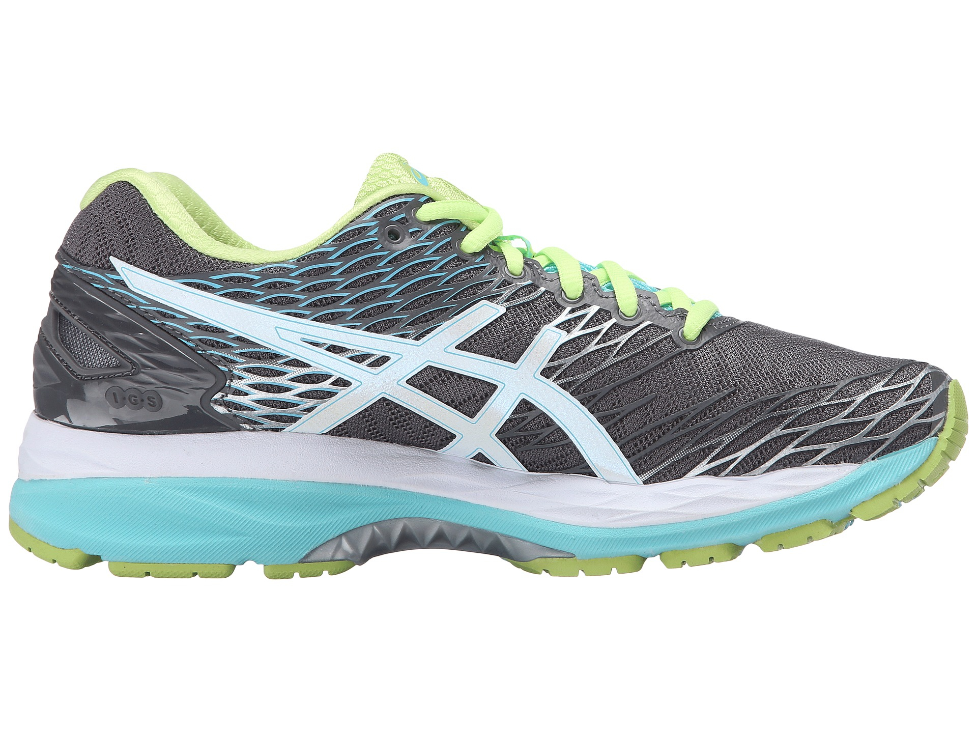 asics gel nimbus 18 in green titanium white turquoise lyst. Black Bedroom Furniture Sets. Home Design Ideas