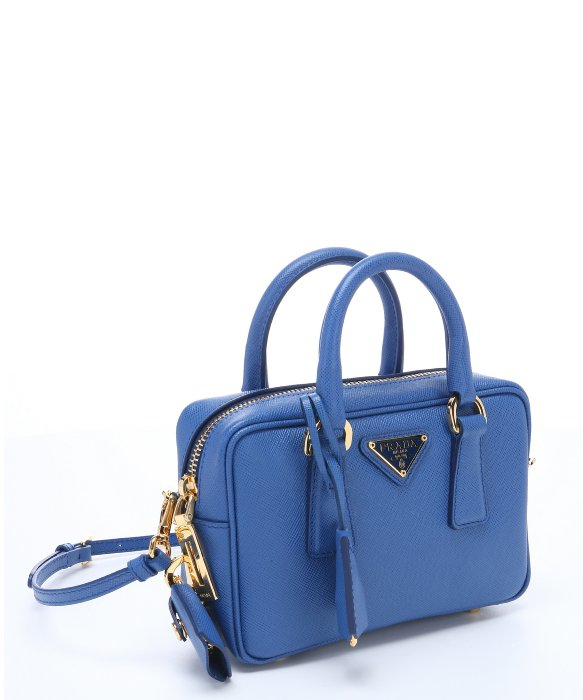 cffb07be9611 ... cheap prada blue saffiano leather mini convertible top handle bag in .  c0060 95caf ...