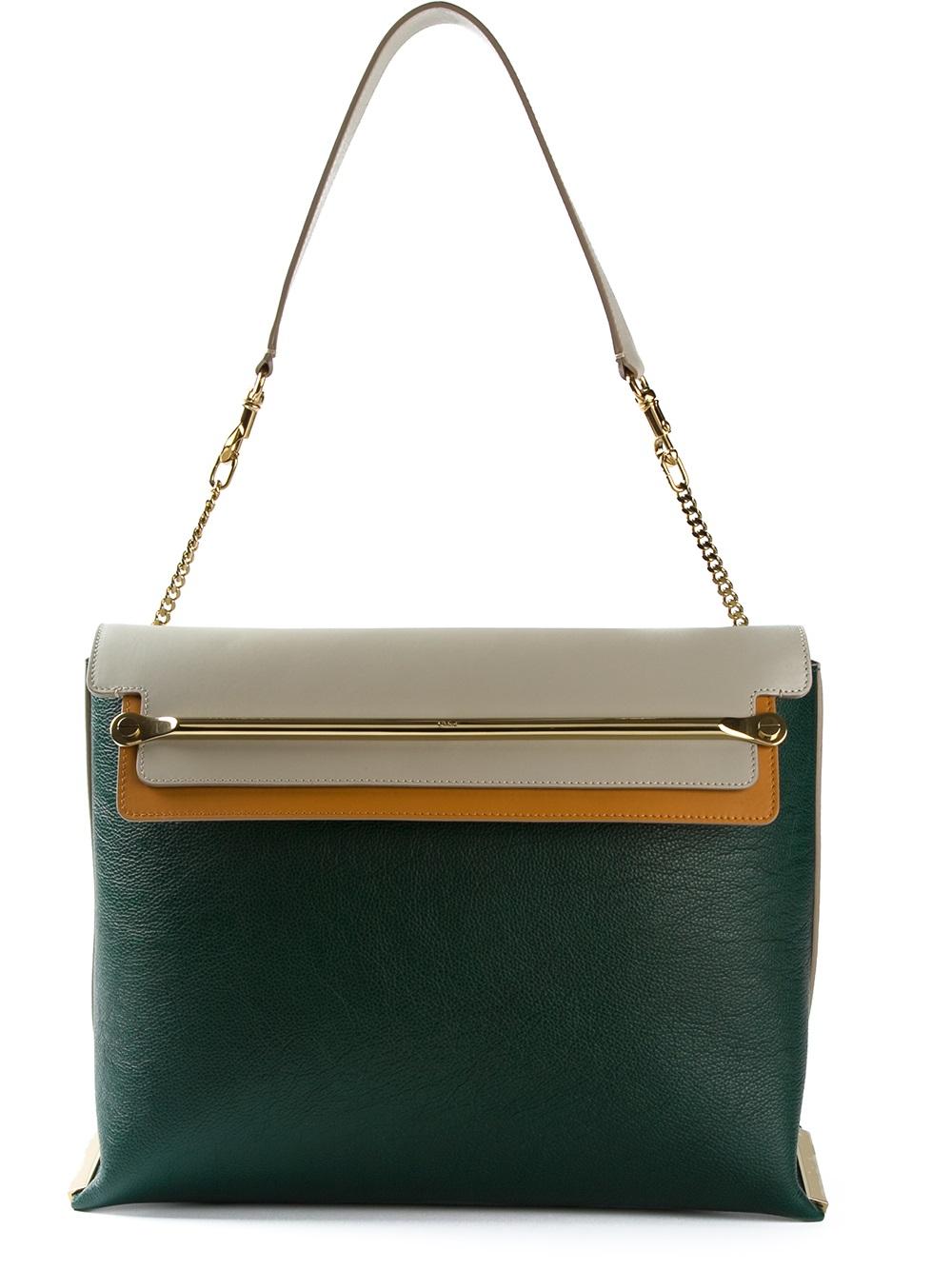Chlo¨¦ \u0026#39;Clare\u0026#39; Shoulder Bag in Green | Lyst