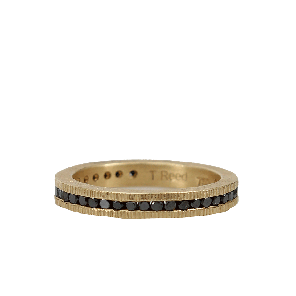 Todd reed channel set black diamond eternity ring in gold for Todd reed
