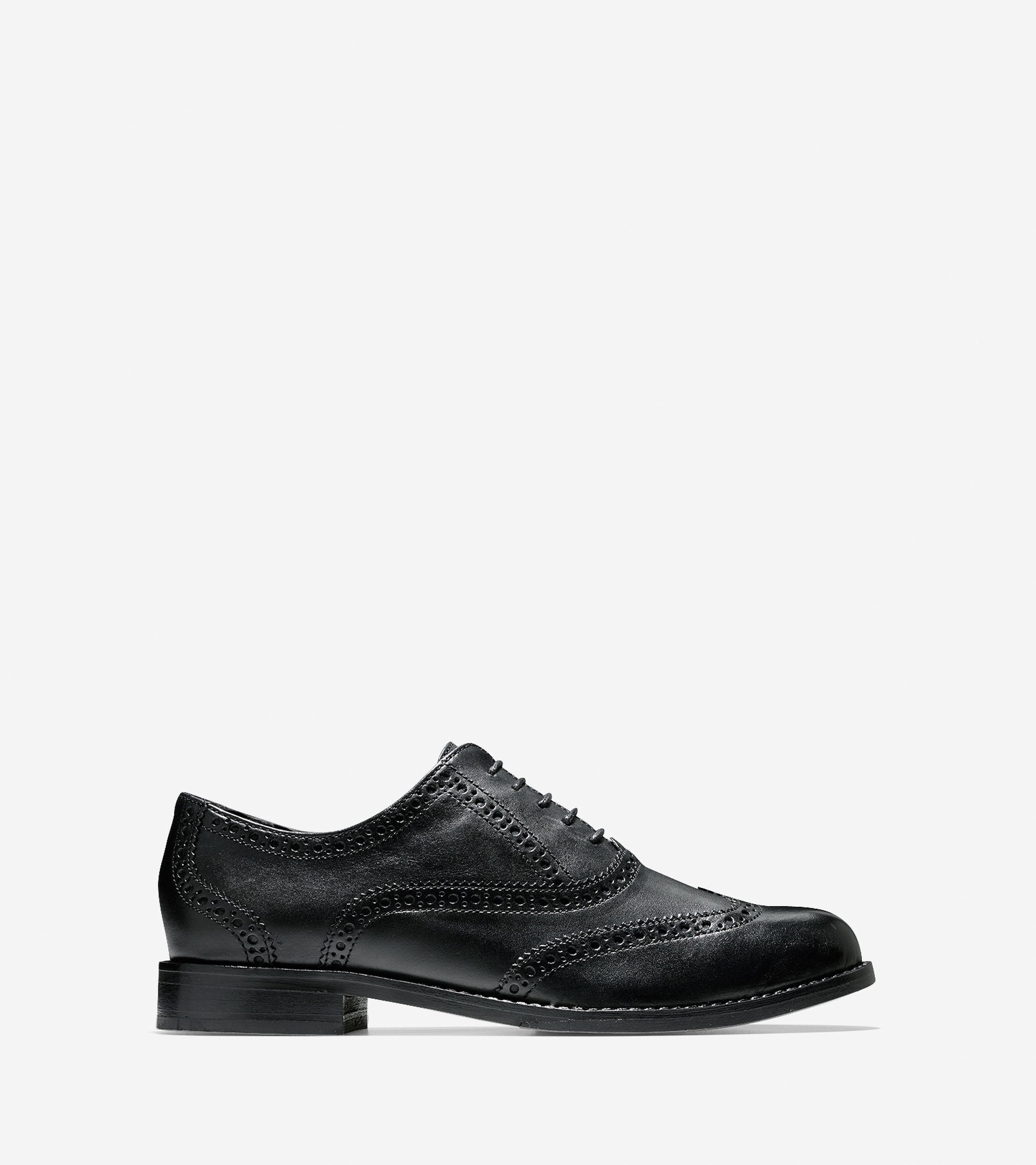 cole haan skylar leather oxford shoes in black lyst