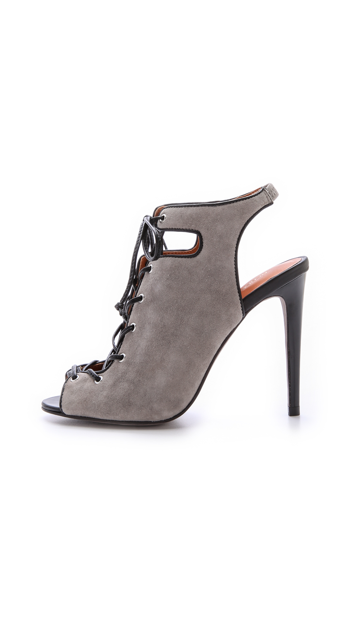 Lyst Rebecca Minkoff Rio High Heel Lace Up Sandals In Gray