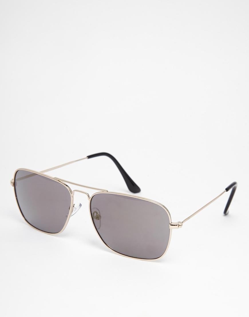 e503cf110f Lyst - Jack   Jones Aviator Sunglasses in Gray for Men