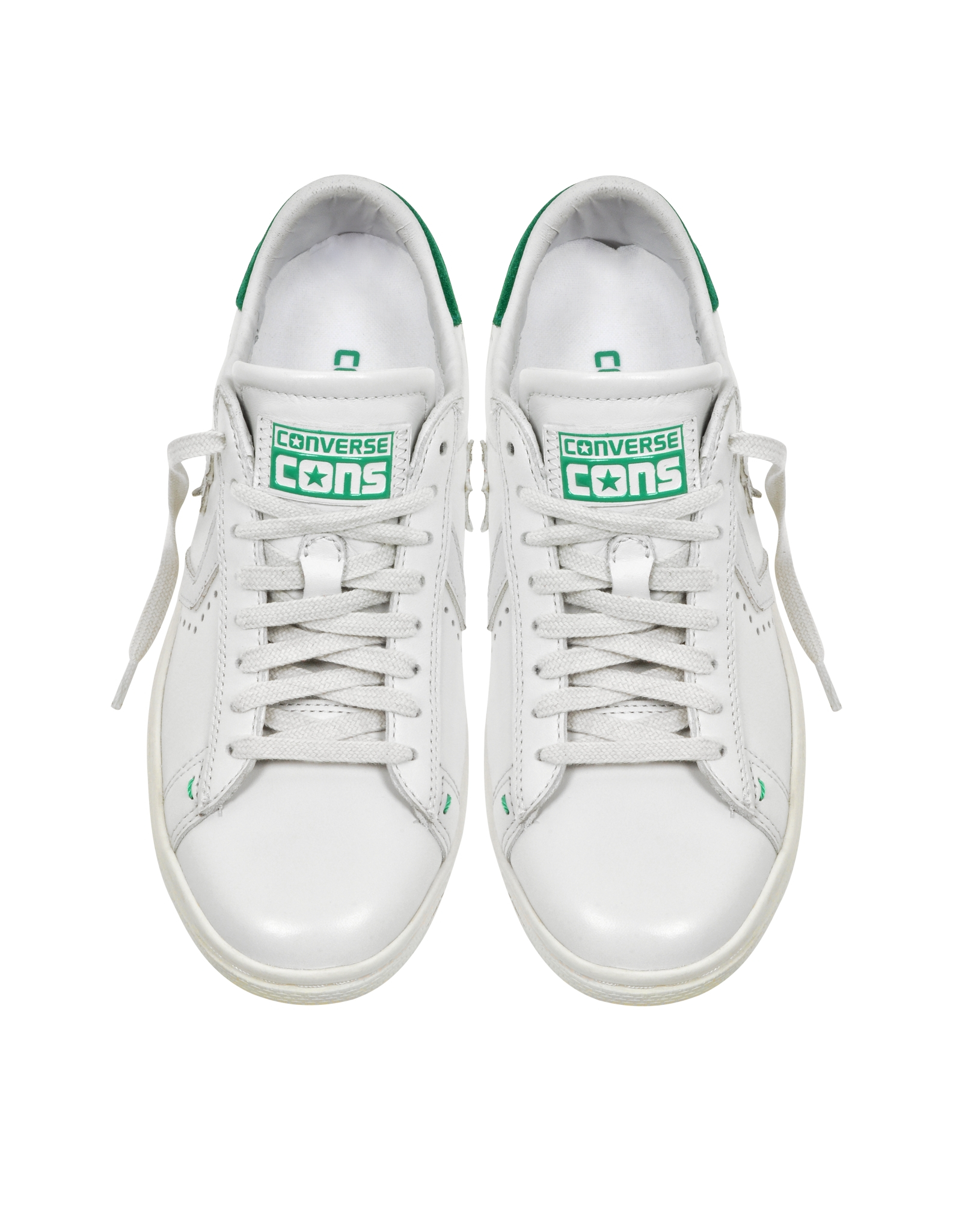 Converse Cons Pro Leather Lp Ox White Dust And Green ...