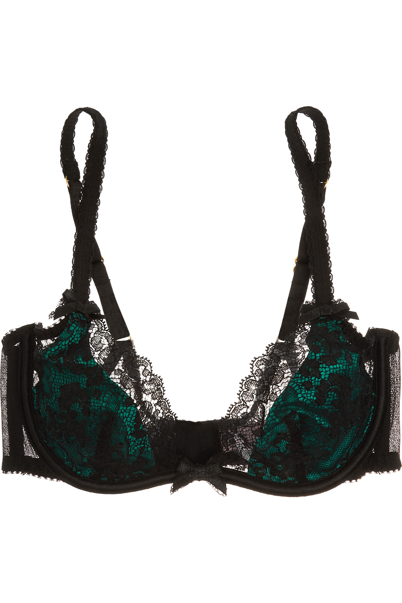 9ba216aa9f Lyst - Agent Provocateur Phyllis Stretch-leavers Lace And Satin ...