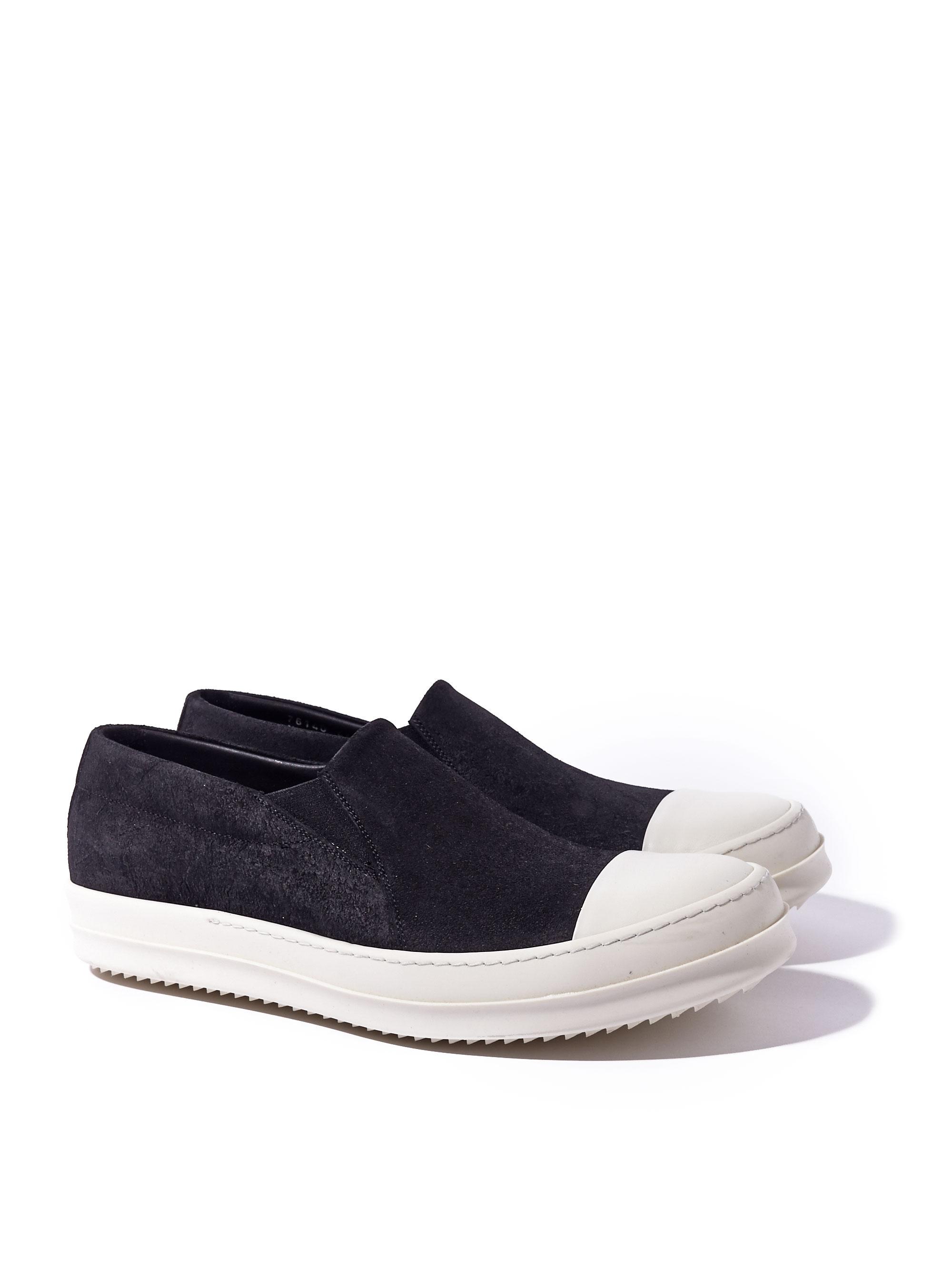 Black Suede Boat Slip-On Sneakers Rick Owens wL6SLAq