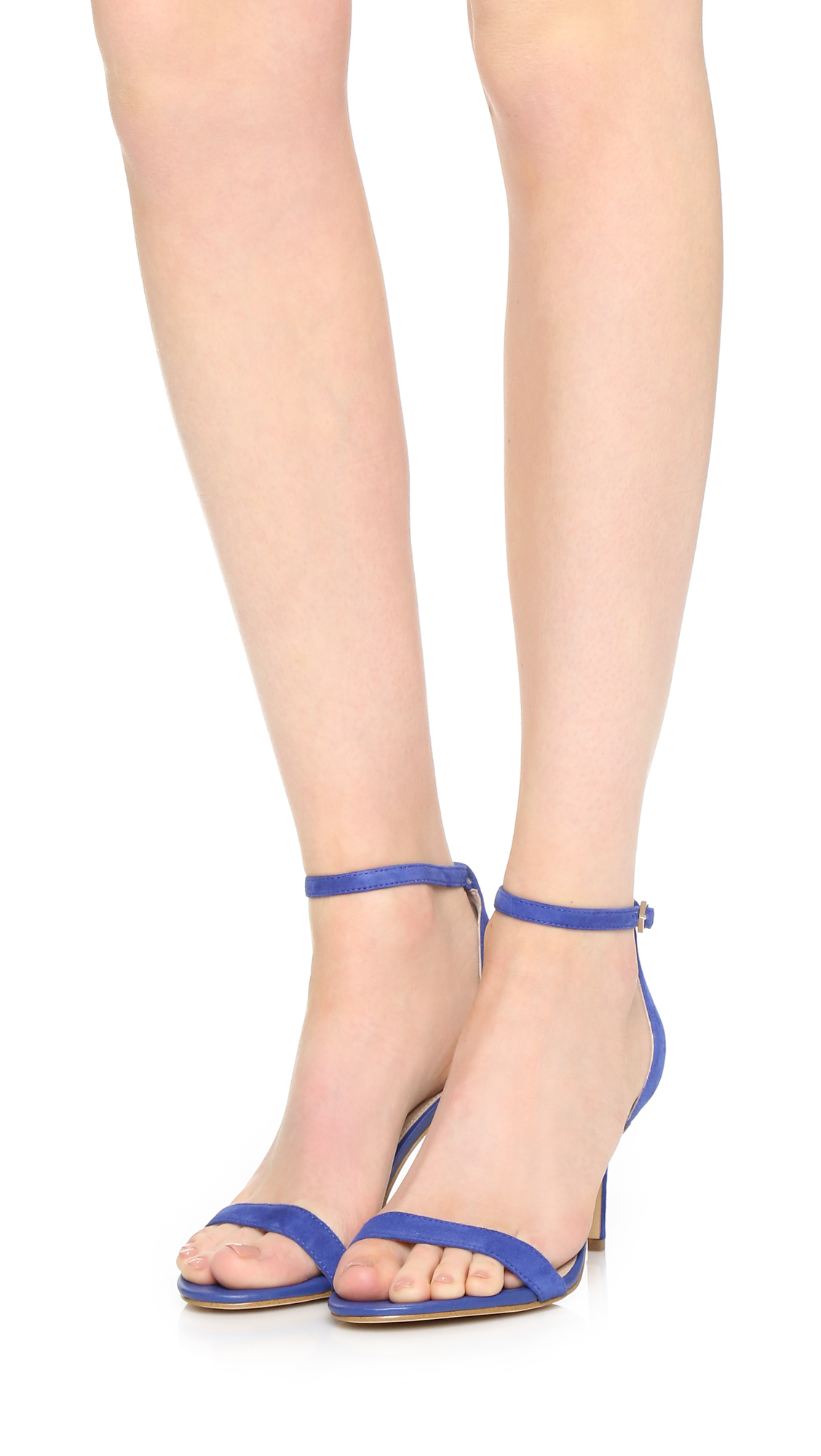 e3dde511b Sam Edelman Patti Mid Heel Sandals in Blue - Lyst