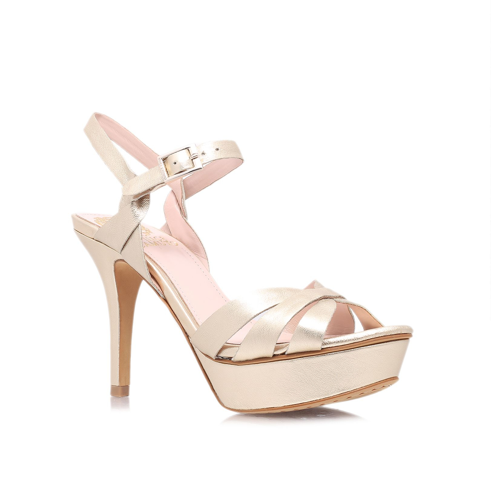 Vince Camuto Peppa High Heeled Court Shoes In Metallic Lyst