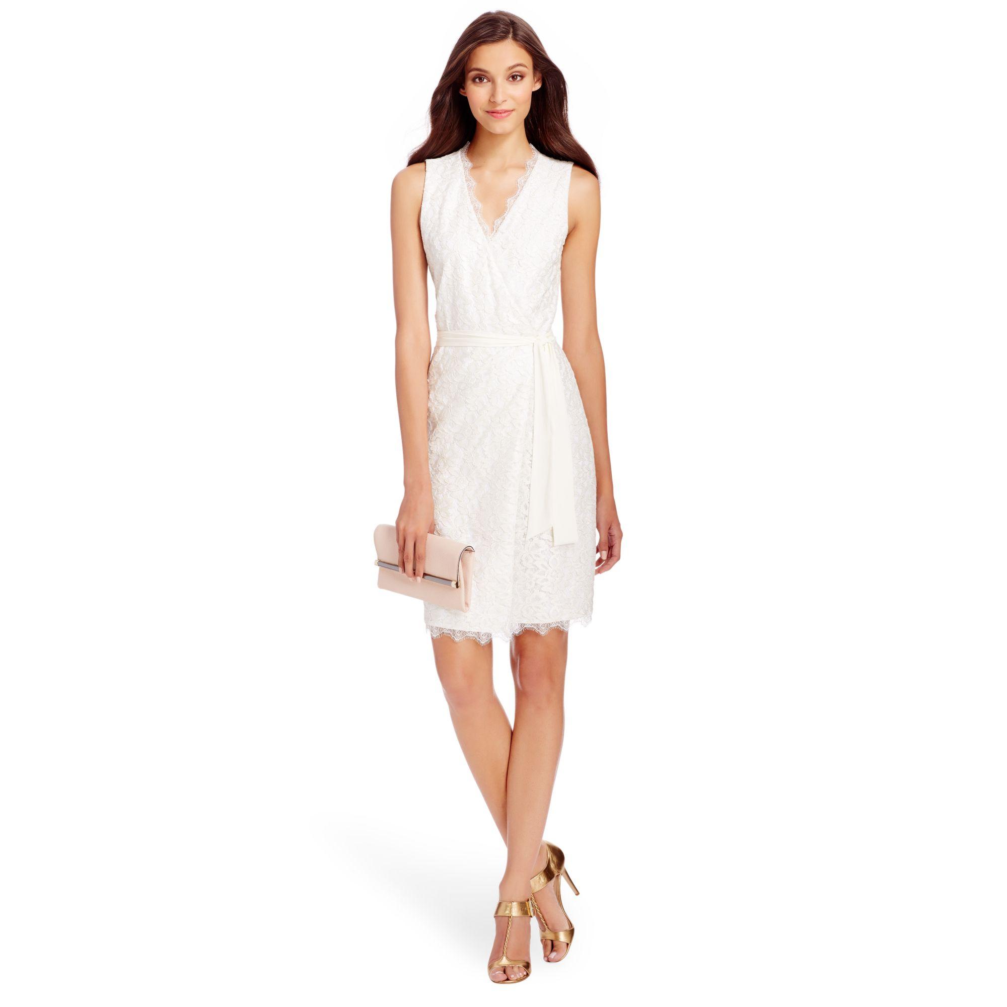 gathered floral dress - White Diane Von F TXIYHNjy