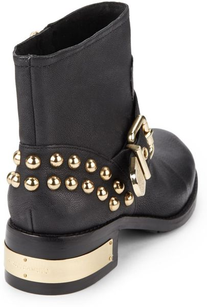 Vince Camuto Windetta Studded Leather Ankle Boots In Black