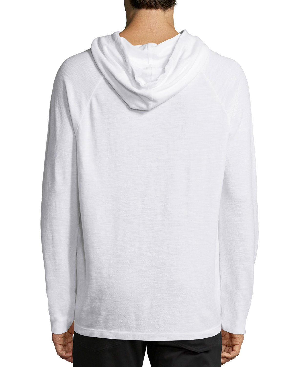 ec68a05a8d Lyst - James Perse Long-sleeve Pique Knit Hoodie in White for Men