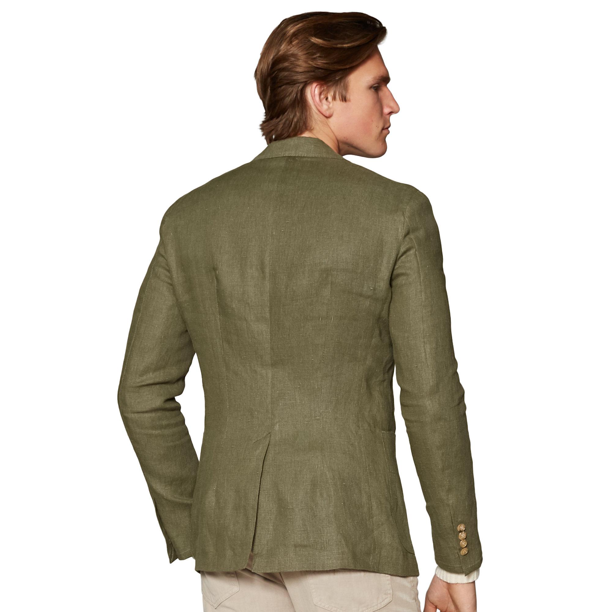 Polo ralph lauren Linen Patch Pocket Sport Coat in Green for Men ...