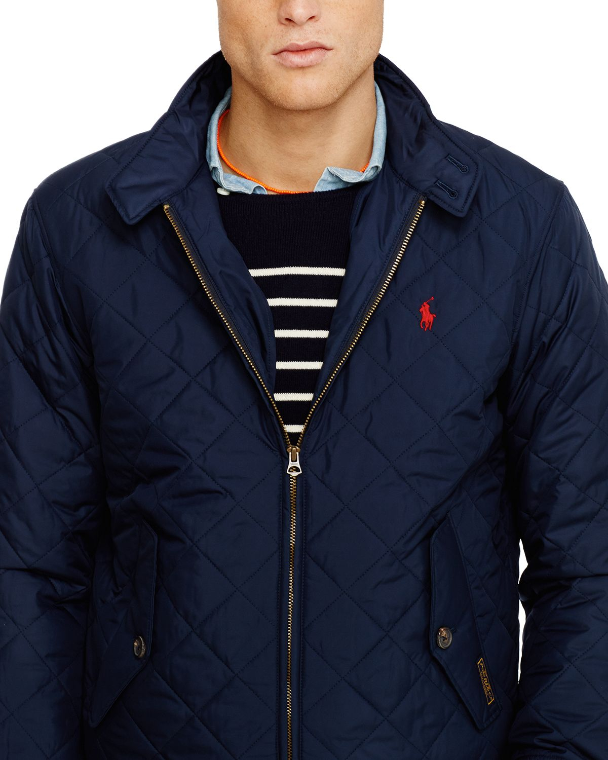 Ralph Lauren Quilted Barracuda Jacket In Blue For Men Lyst