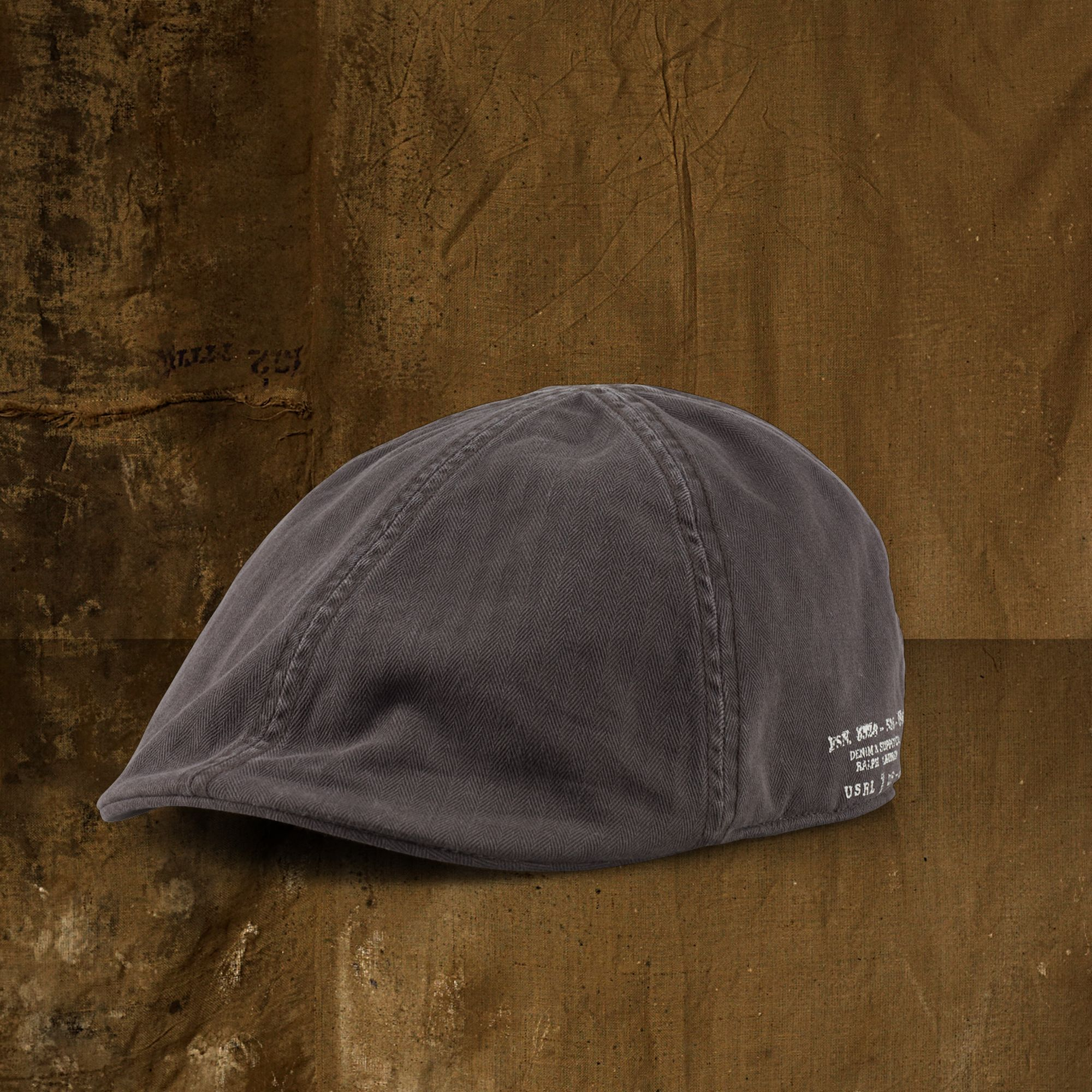 Denim   Supply Ralph Lauren Herringbone Newsboy Cap in Brown for Men ... f29ed23ab899