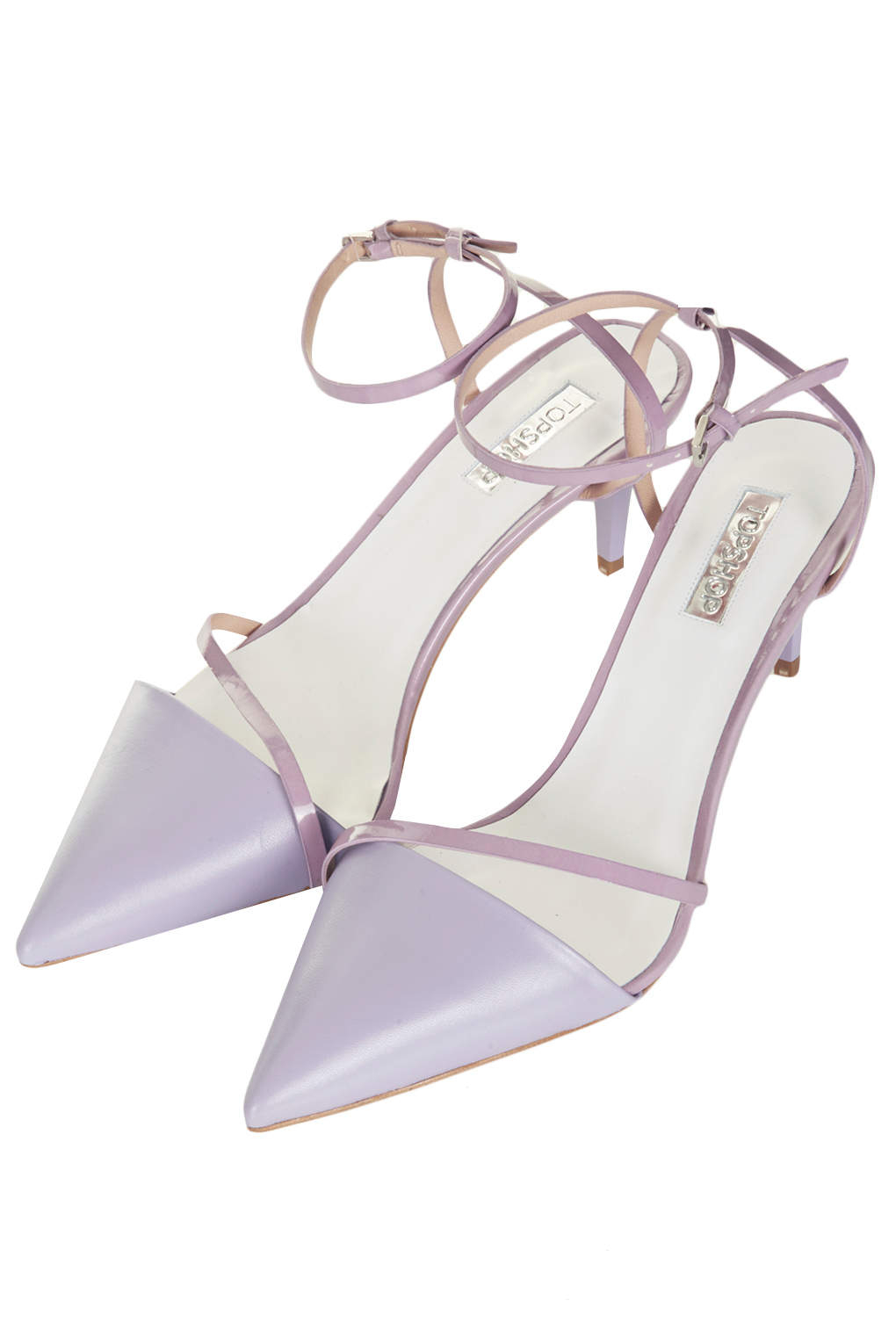 Topshop Joy Strappy Kitten Heels In Purple Lyst